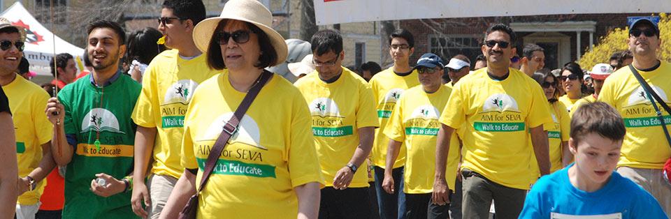 aim for seva walk to educate